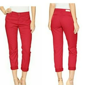 AG The Caden tailored trouser pant in Berry red 31